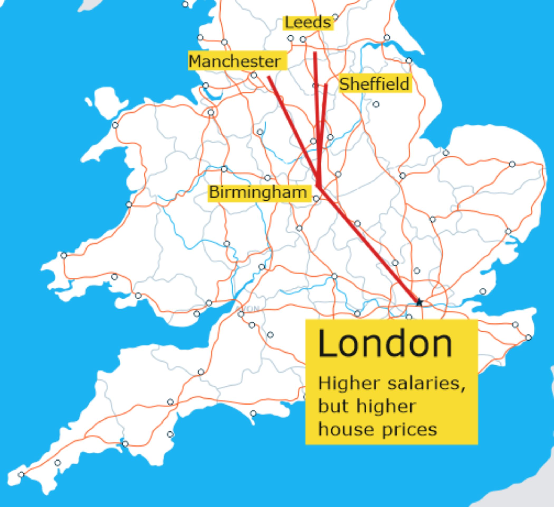 London Higher house prices